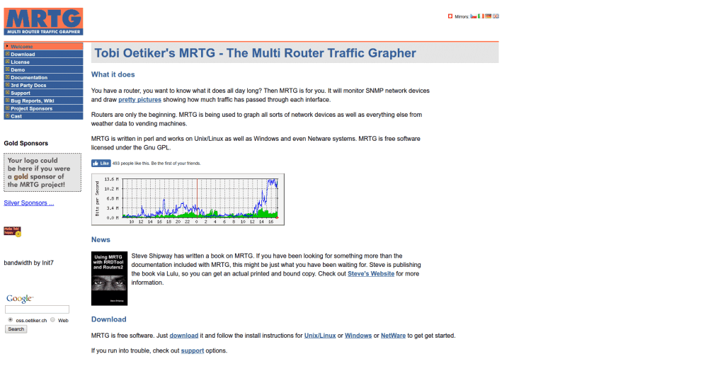 MRTG Tobi Oetiker s MRTG The Multi Router Traffic Grapher