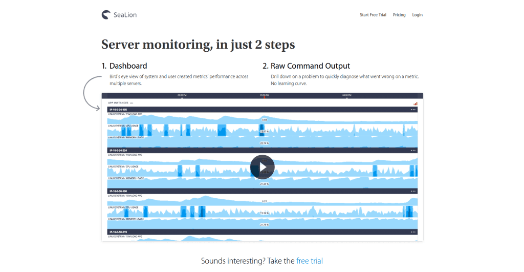 SeaLion Server monitoring