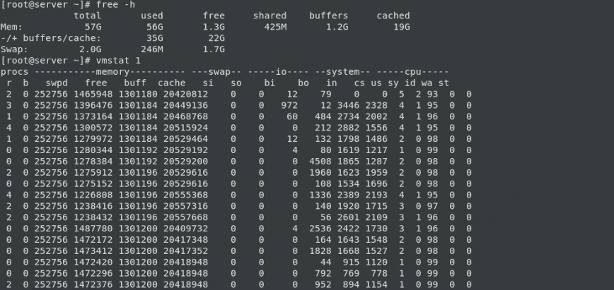 How to check free memory slots in linux