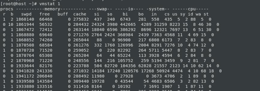 RAM Upgrade: vmstat 1