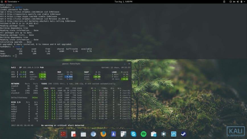Kali Linux rolling