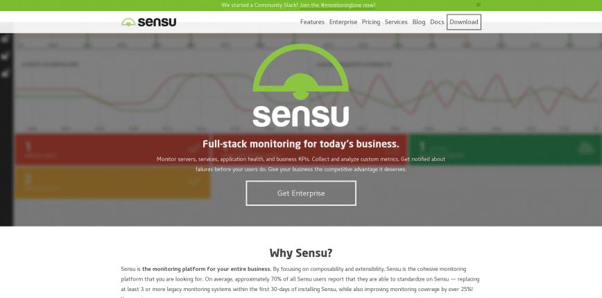 Sensu Full stack monitoring